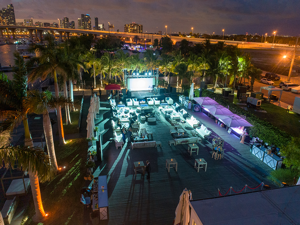 Outdoor venue for events at Island Garden, Miami